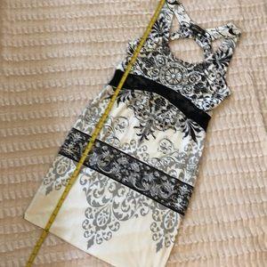 NEW. Atelier by BOHO Chic dress. Grey, off white